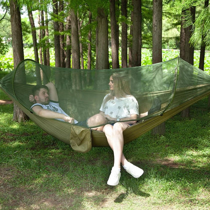 Outdoor Camping Parachute Hammocks Mosquito Net Hamac Can Be Used Camping Survival Travel Hiking Trekking Sleeping Tent Mats - Go Buy Dubai