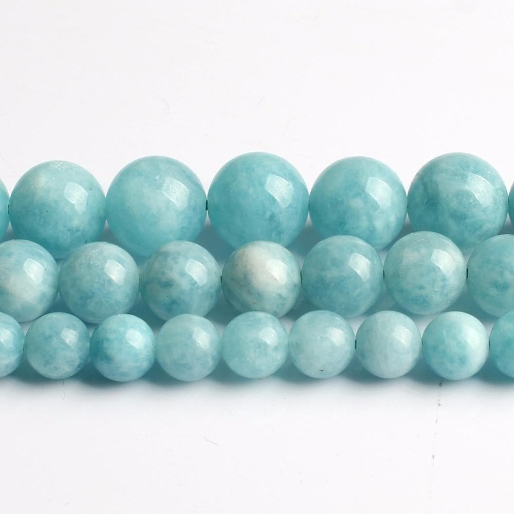 gem beads genuine  round stone beads for jewelry making