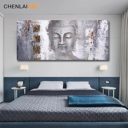 High Quality Abstract Buddha Painting Canvas Wall Art Canvas Large Modern Buddha Painting for Living Room Wall Art Prints Poster - Go Buy Dubai