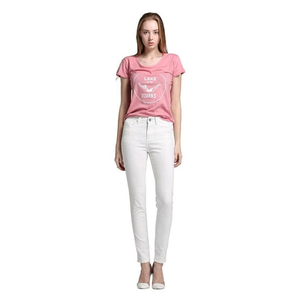 Alice & Elmer Skinny Jeans Woman Jeans For Girls Jeans Women High Waist Stretch Jeans Female Pants  Shortened White - Go Buy Dubai