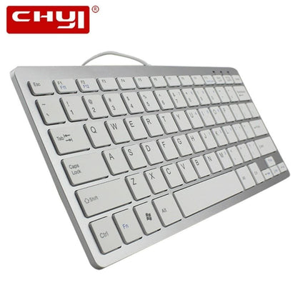 Computer Keyboard For Apple Macbook Ergonomic Slim Wired Usb Keyboards Ultra-thin Multimedia Gamer Keypad For Windows PC Laptop - Go Buy Dubai
