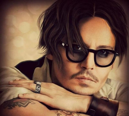 Johnny Depp Style Glasses Small Men Retro Vintage Prescription Glasses Women Optical Spectacle Frame Clear lens Eye Glasses - Go Buy Dubai