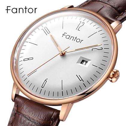 New Brand Business Men Watch Luxury Fashion Dress Quartz Wristwatch Mens Leather Strap Waterproof - Go Buy Dubai