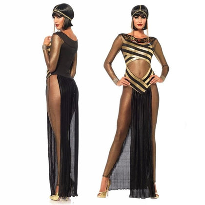 Ancient Egypt Queen Of the Nile Cosplay Costume Egyptian Cleopatra Dress Adult Women cosplay Costume Fantasy Halloween Costume - Go Buy Dubai