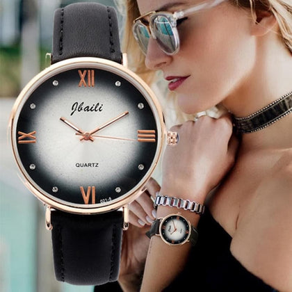 Fashion Women Watches Elegant Leather Strap Personality Romantic Dress Suit Watch Ladies Wristwatches Casual Clock montre femme - Go Buy Dubai