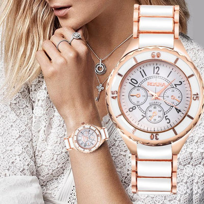 2018 Fashion Women Watches Personality Romantic Rose Gold Wrist Watch Stainless Steel Ladies Clock montre femme reloj mujer - Go Buy Dubai