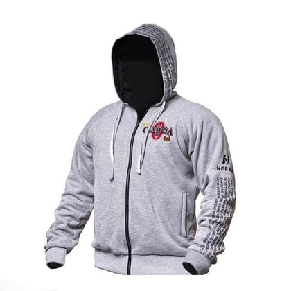 Mr OLYMPIA Mens zipper Hoodies Fashion Casual male gyms fitness Bodybuilding cotton Sweatshirt sportswear Brand top coat - Go Buy Dubai