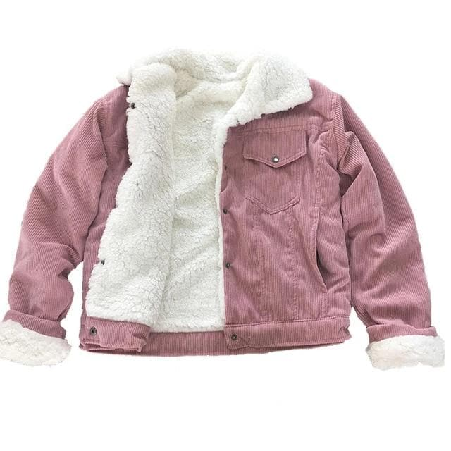 Women Winter Jacket Thick Fur Lined Coats  Bomber Jackets Cute Outwear
