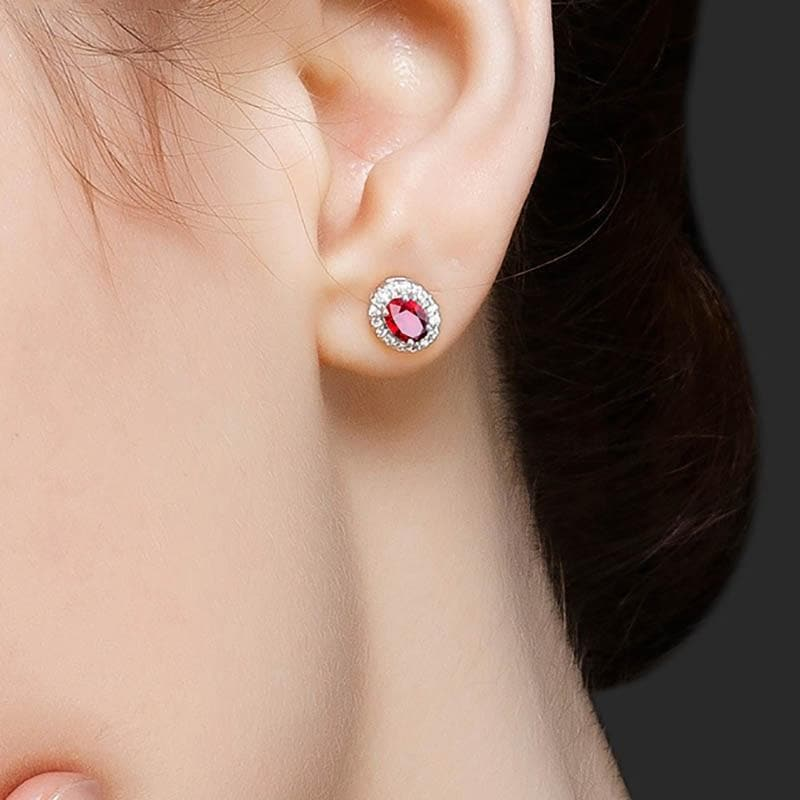 Fashionable Earrings for Women Classic Lady  Silver 925 Jewelry