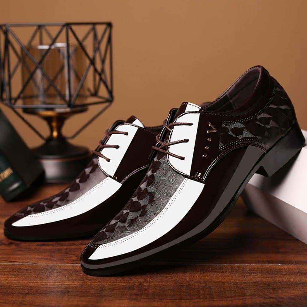 New Leather Shoes Luxury Business Wedding Flats Footwear