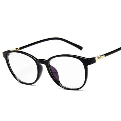 Oval Oversized Men Women Glasses Frame Transparent Optical Vintage Spectacle Round PC Retro Over Sized Myopic Frames - Go Buy Dubai