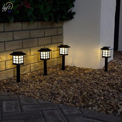Retro Underground Lantern Lawn Outdoor Landscape LED Solar Energy Light - Go Buy Dubai