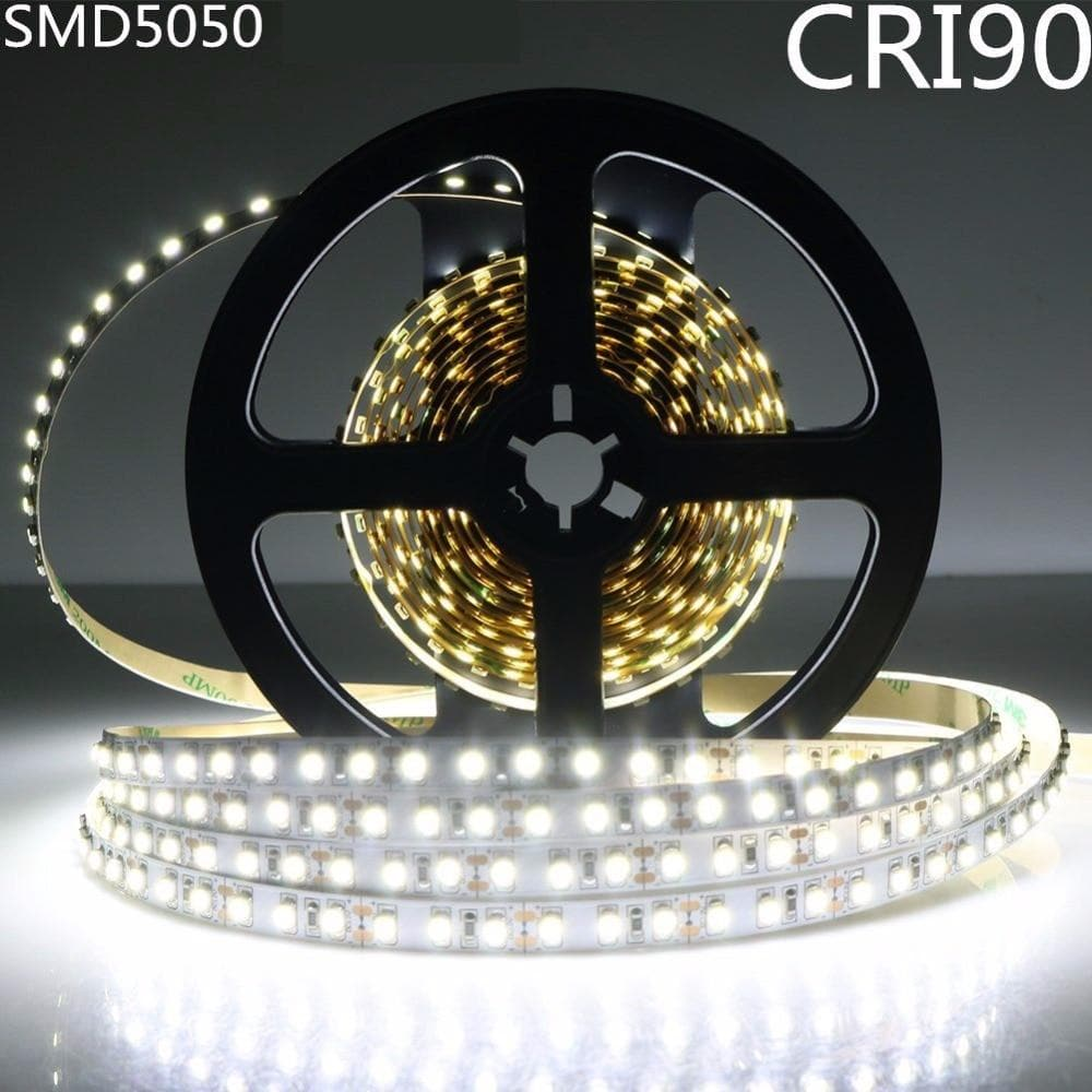 DC12V SM5050 High CRI 90+ LED Light Strip 10MM White PCB Flex Ribbon Strip 30LEDs/M Non-waterproof  High Color Rendering Index