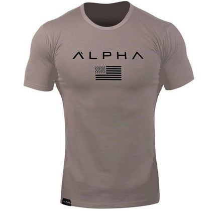Men's Fashion Alpha Male Fitness Freak O-neck Cotton T Shirts - Go Buy Dubai