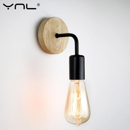 Wood Industrial Loft Wall Lamp Vintage Retro Decor Wall Light Fixtures For Living Room Home Indoor Sconces Lighting Decorative - Go Buy Dubai