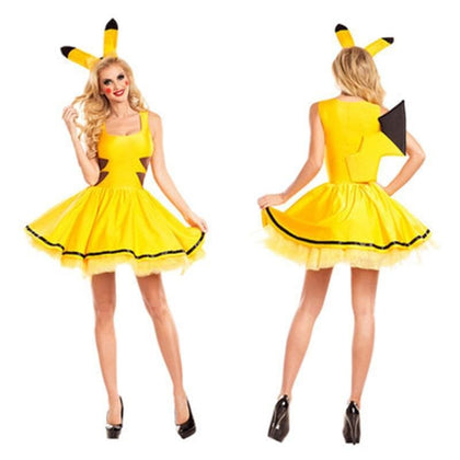 halloween costumes for women sexy plus size Pokemon pikachu costume Cosplay Christmas Party fancy Dress Animal adult Carnival - Go Buy Dubai