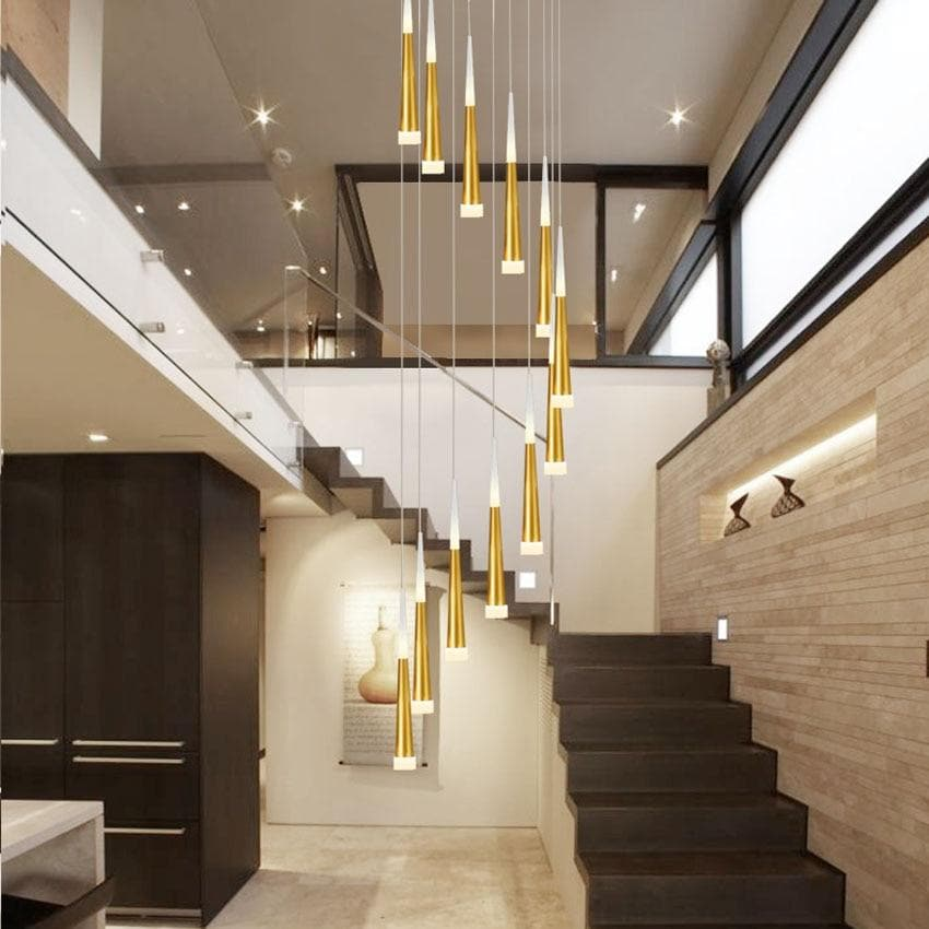 1-36 heads led stairs pendant lights modern aluminum Acrylic lampbody hang lamp living dining room kitchen suspension luminaire