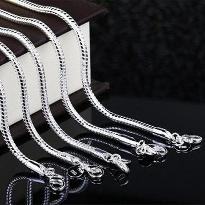 Silver Snake Chain Bangle Bracelet For  Party Cocktail