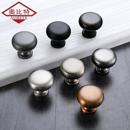 AOBITE Single Hole Mini Handle Black Chrome Cabinet Door Drawer Modern Minimalist Button Furniture Wardrobe Door Handles 641 - Go Buy Dubai