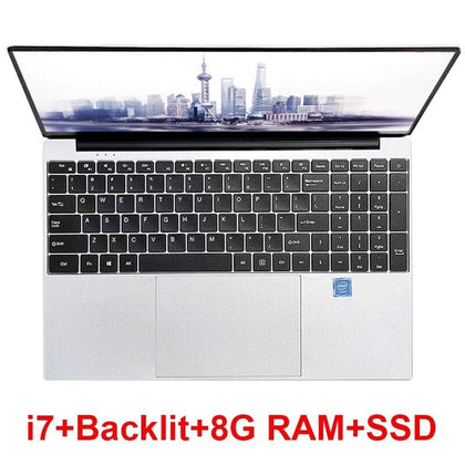15.6 inch Gaming Laptop With i7 CPU 8G RAM 1TB 512GB 256GB 128GB 64GB SSD ROM Notebook Computer Backlit Keyboard Win10 Ultrabook - Go Buy Dubai