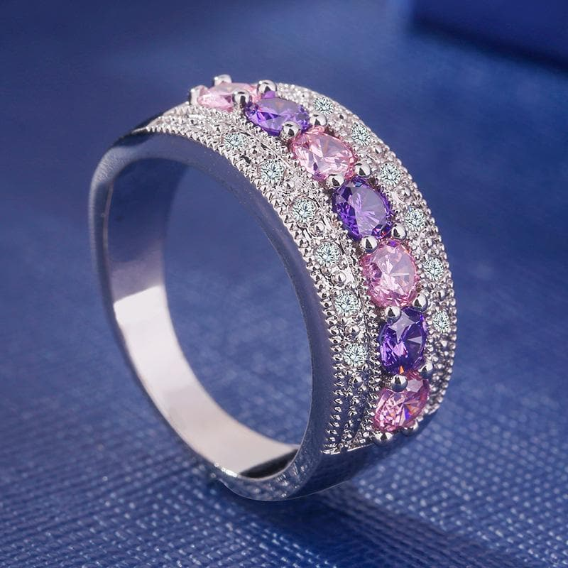 Luxury Silver 925 Jewelry Gemstones Ring for Women  Female Gift Party