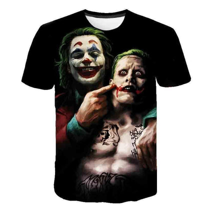 Men's Fashion Summer Style Joaquin Phoenix Jokers Suicide Squad 3D Printed Short Sleeve Casual T Shirt - Go Buy Dubai