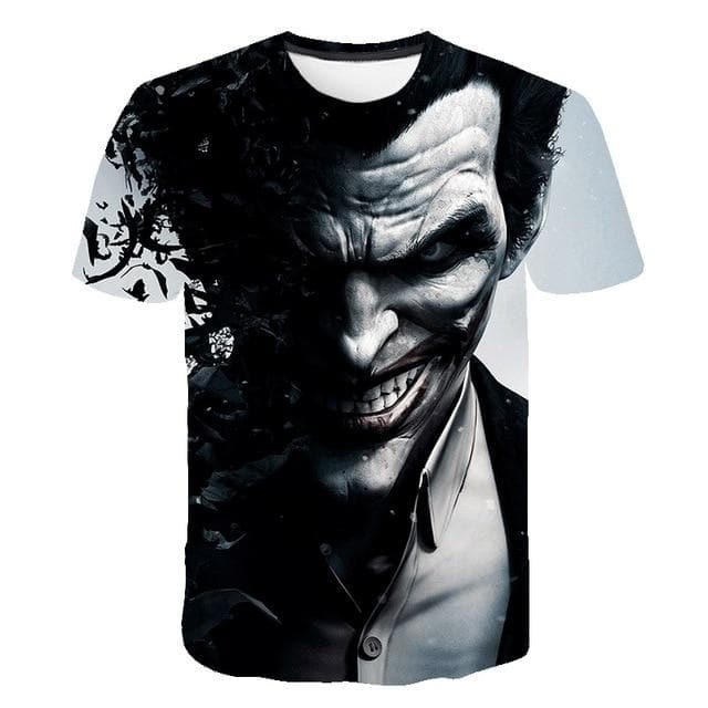 Men's Fashion Summer Style Joaquin Phoenix Jokers Suicide Squad 3D Printed Short Sleeve Casual T Shirt