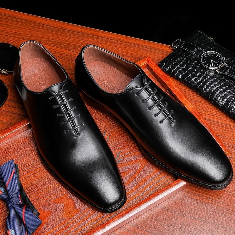 Men Genuine Cow Leather Brogue Wedding Business Mens Casual Flats Shoes