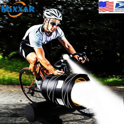 ZK20 Droshipping T6 Bicycle Light Ultra BrightLED Flashlight Built in Battery USB Rechargeable Front Flashlights Safety Cycling - Go Buy Dubai