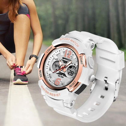 Fashion New Women Sports Watch G Waterproof Digital LED Ladies Shock Military Electronic Army Wristwatch Clock Girl Reloj Watch - Go Buy Dubai