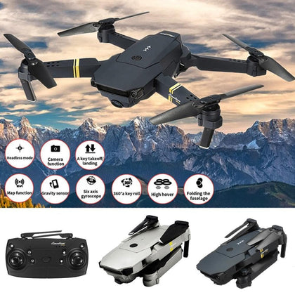 Willkey E58 HD 1080P Camera Drone WIFI FPV With Wide Angle Hight Hold Foldable Arm RC Quadcopter Toy Drone RTF with Bag for Gift - Go Buy Dubai