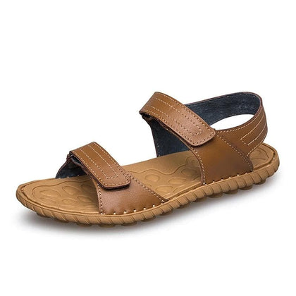 Light Casual Genuine Leather Men's Sandals - Go Buy Dubai