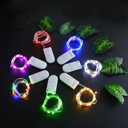 1M 2M 3M 5M LED String Lights For Wedding Party Christmas Decoration Fairy Lights Garden Outdoor Waterproof Garland Light Chain - Go Buy Dubai