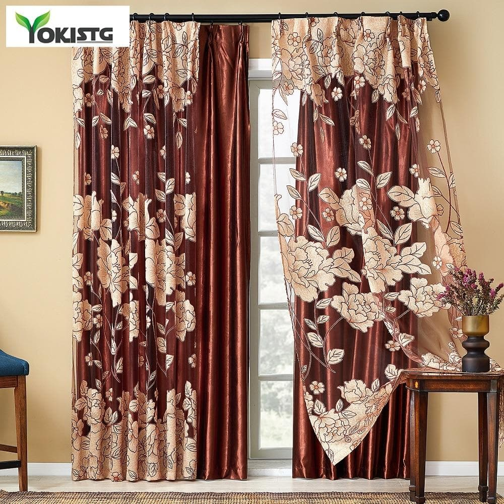 Modern Luxury Embroidered Sheer Curtains  Window Treatments