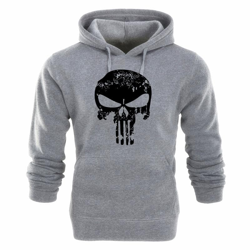 Punishers Printed Fleece Pullover Hoodies Men/Women Casual Hooded Streetwear Sweatshirts Skull Harajuku Male Fashion Sportswear