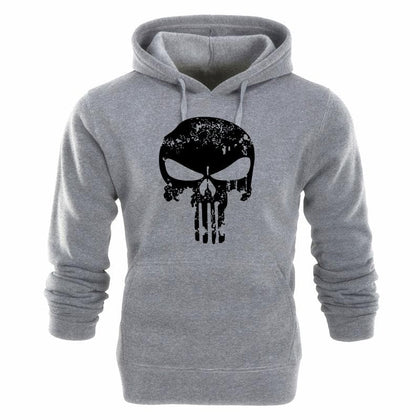 Punishers Printed Fleece Pullover Hoodies Men/Women Casual Hooded Streetwear Sweatshirts Skull Harajuku Male Fashion Sportswear - Go Buy Dubai