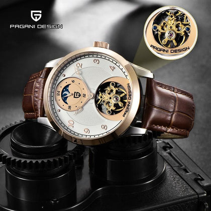 Tourbillon Men Watches Top Brand Luxury Automatic Moon Phase Mechanical Watch Men Military Clock Relogio Masculino - Go Buy Dubai