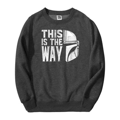 TV Show Mandalorian Way Men Sweatshirt Hoodies 2020 Spring Autumn Star Wars Streetwear Hip Hop Fashoin This Is My Way Pullover - Go Buy Dubai