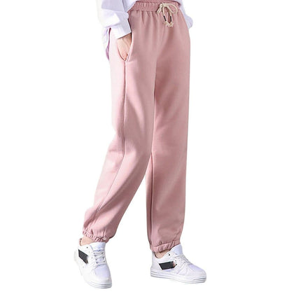 Thick Lambskin Cashmere Women Pants 2019 Winter Warm Harem Pants Casual Elastic Waist Loose Sweatpants Cotton Trousers #35 - Go Buy Dubai