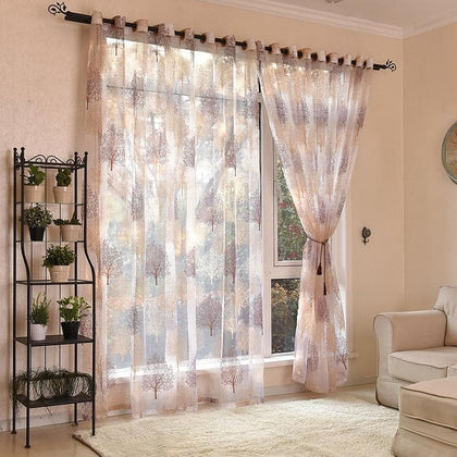 Japanese Style Tulle Window Curtains For Living Room Bedroom Kitchen Window Sheer Curtains Home Decor Voile Curtains - Go Buy Dubai