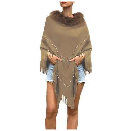 Swing Sweater Coat Women Knitted Cashmere Poncho Capes Shawl Cardigans Fashion Ladies Casual Pullovers Sweaters 2020 - Go Buy Dubai
