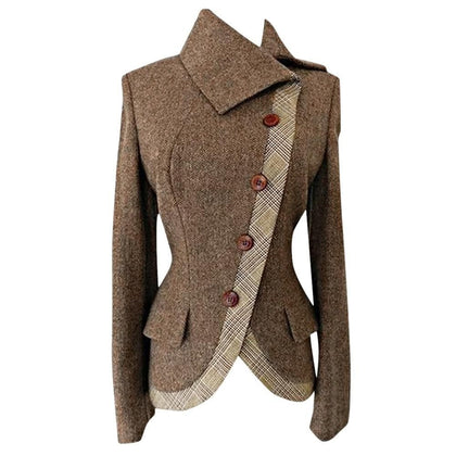 Women Blazer Plus Size Women Blazers And Jackets Thick Warm Side Buttoned Casual Vintage blazer - Go Buy Dubai