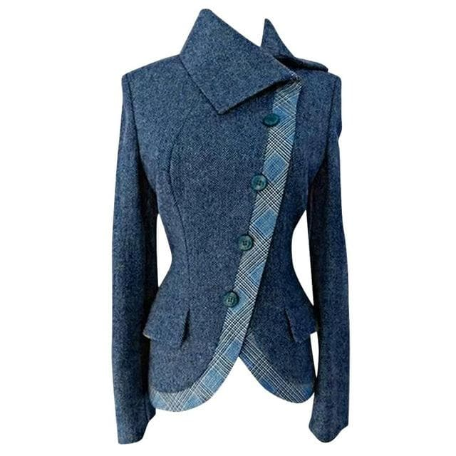 Women Blazer Plus Size Women Blazers And Jackets Thick Warm Side Buttoned Casual Vintage blazer