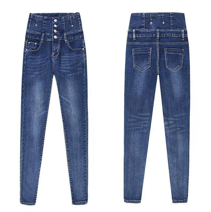 New Jeans For Women Plus Size 26-34 Casual Pants High Waist Jeans woman Pencil Pants push up skinny Denim Trousers Plus size - Go Buy Dubai