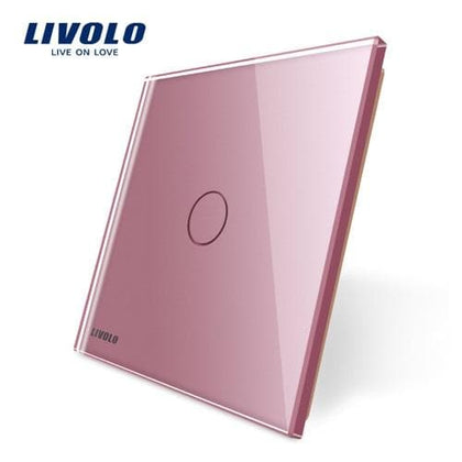 Livolo Luxury Colorful Pearl Crystal Glass,only panel, Single Glass Panel For 1 Gang  Wall Touch Switch, C7-C1-17/8/9,no logo - Go Buy Dubai