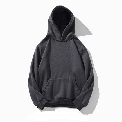 Men Hooded Hoodies Sweatshirts Winter Brand New Fashion Men's Solid Color Sweatshirt Plus Velvet Warm Hoodie Male - Go Buy Dubai