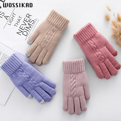 Women Gloves Winter Touch Screen Keep Warm Driving Gloves Luvas Modis De Inverno Guantes Invierno Guantes Mujer Moda - Go Buy Dubai