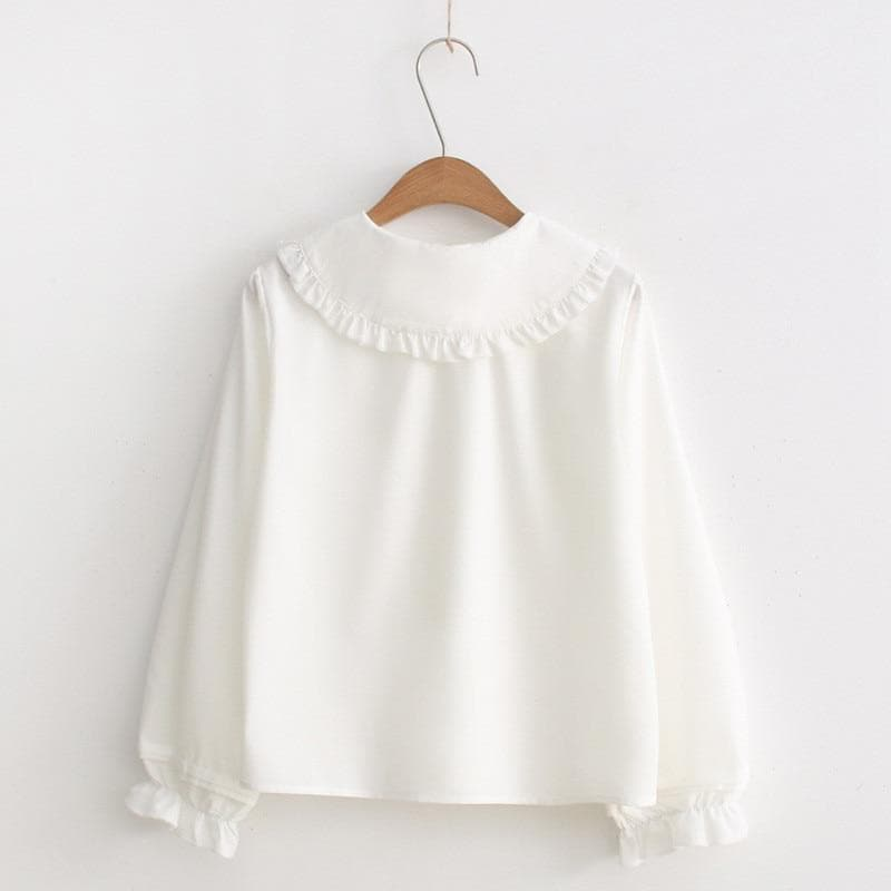women white blouse long sleeve cotton tops and blouses