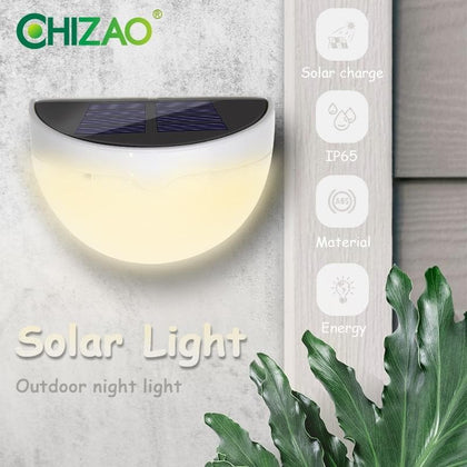 CHIZAO Outdoor wall light Mini wireless solar lamp Night Safety decorative lighting for Garden fence garage ladder front door - Go Buy Dubai