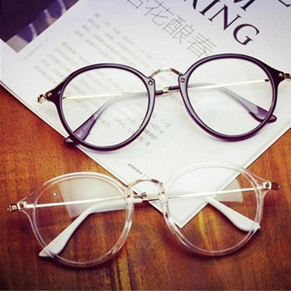 Women Retro Myopia Eyeglasses Frame Female Eye Glasses Vintage Optical Glasses Prescription Transparent Frame - Go Buy Dubai
